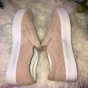 Marc Fisher Shoes - Marc Fisher Pink Suede Loafers